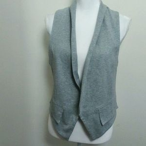 French Connection Gray Vest With Faux Pockets NWT